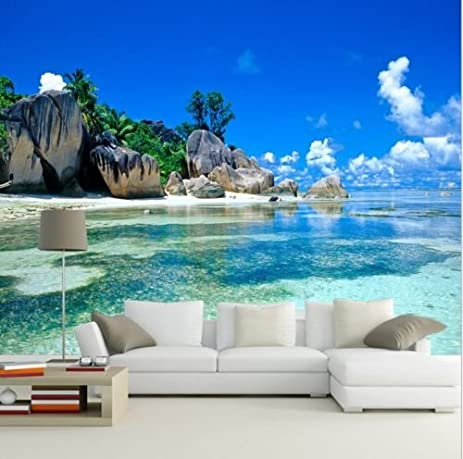 Ordinaire EUTTEUM 3D Wallpaper Bedroom Living Mural Beach Sea Island Landscape Modern  Wall Paper
