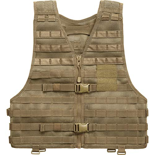 5.11 LBE Tactical Vest with MOLLE for Paintball Airsoft Hiking Hunting, Style 58631, Sandstone, XX-Large