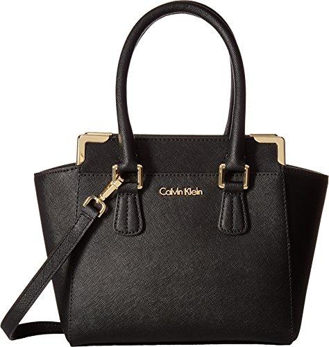 Calvin Klein Women s Saffiano Crossbody Black…