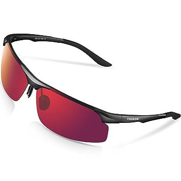 Gafas de sol deportivas M291 de Torege, polarizadas, con montura TR90 irrompible de aluminio