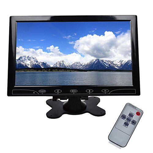 TOGUARD 10.1'' Inch Ultrathin Color Security CCTV Monitor 1024x600 Resolution Touch Buttons Video and Audio LED Display Screen with Remote Control AV/VGA/HDMI Input by TOGUARD