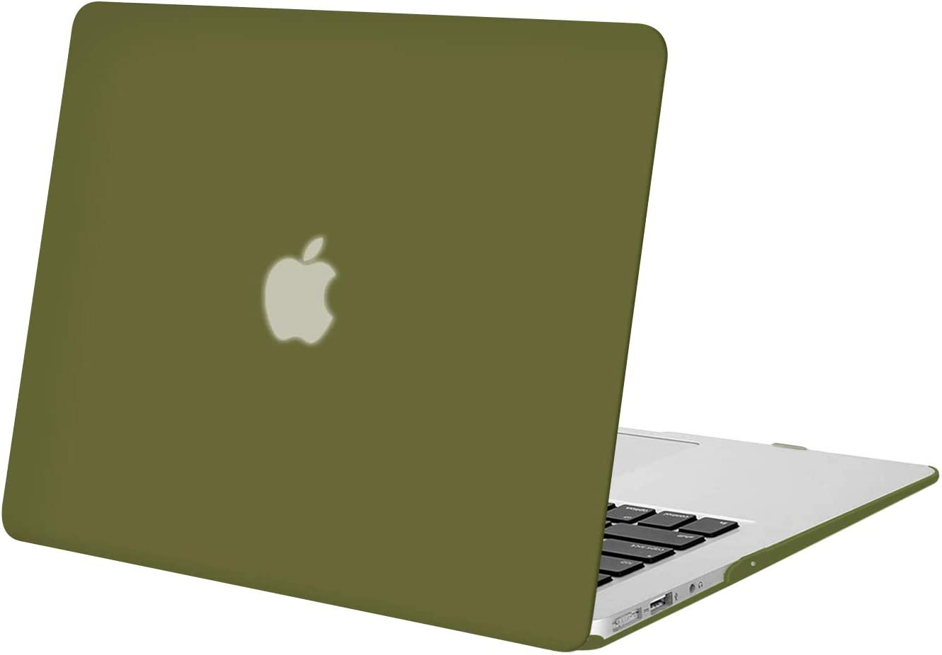 MOSISO MacBook Air 13 inch Case (Models: A1369 & A1466, Older Version 2010-2017 Release), Plastic Hard Shell Case Cover Only Compatible with MacBook Air 13 inch, Capulet Olive