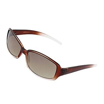 Marrón Claro Full Rim solo puente de color lente gafas de ...