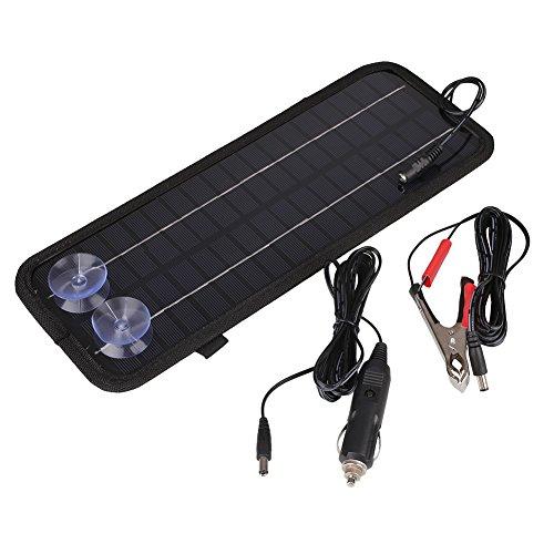 Duoying Cargador portátil del Banco de Las baterías del Barco del Coche del Panel Solar de 12V 4.5W Universal