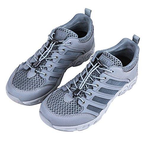 Libre Soldado hombre Watershoe Ultra luz transpirable de secado rápido zapatos gris