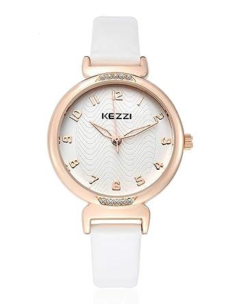 489f8aa03489 Amazon | レディース 腕時計 おしゃれ 女性 ウォッチ 革 バンド 時計 クリスタル watch for women (ピンク) (ホワイト)  | レディース腕時計 | 腕時計 通販