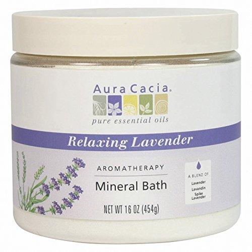 (Mineral Bath-Lavender Fields Aura Cacia 16 oz Bath Salt)