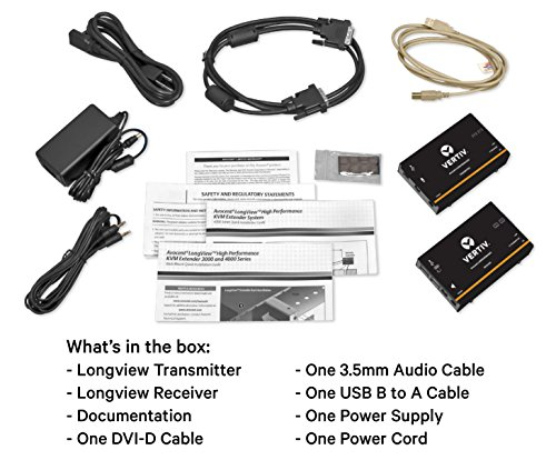 Avocent LV 4000 Series KVM Extender Kit with Receiver & Transmitter, Single Monitor, DVI, USB, Audio, CATx up to 50m / 165ft - LV4010P by Avocent (Image #5)