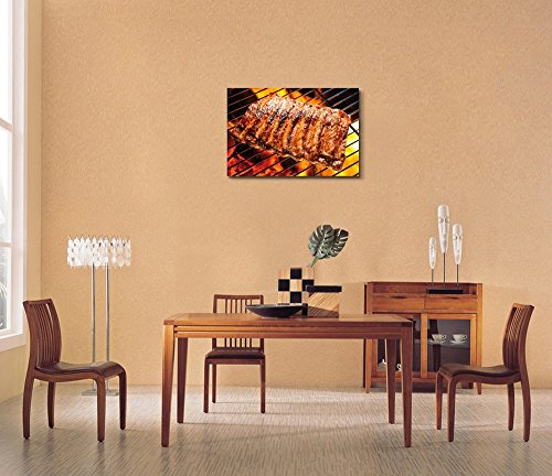 Grilled Pork Ribs on The Grill BBQ Wall Decor