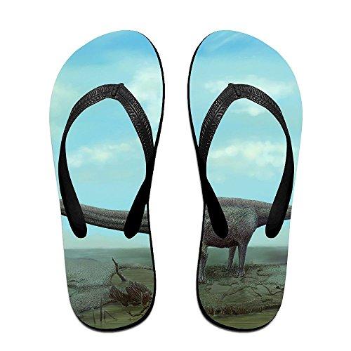 Couple Flip Flops Dinosaur Print Chic Sandals Slipper Rubber Non-Slip House Thong ()