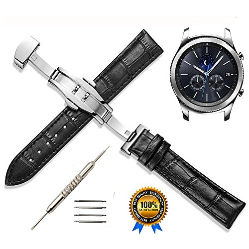 22mm Genuine Leather Watch Band product image
