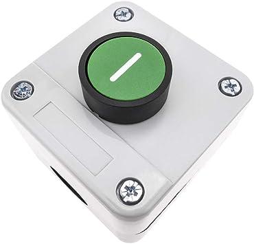 BeMatik Caja de control con 1 pulsador momentaneo verde 1NO START