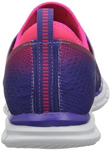Skechers Sport Dames Zweefvliegtas Stretch Fit Onverschrokken Deepspace Sneaker Paars / Roze