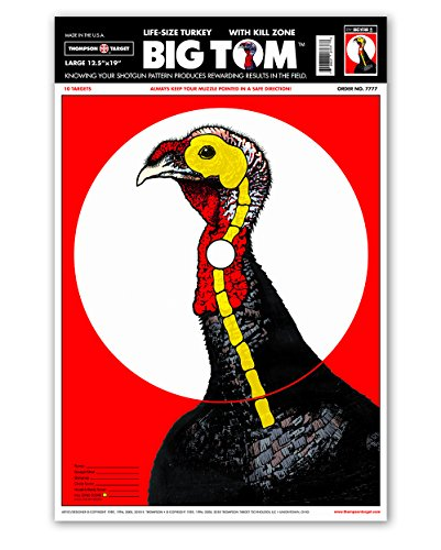 Life Size Turkey - Paper Shotgun Patterning Shooting Targets 12.5