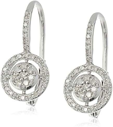 10k White Gold Diamond Drop Earrings (1/3cttw, I-J Color, I2-I3 Clarity)