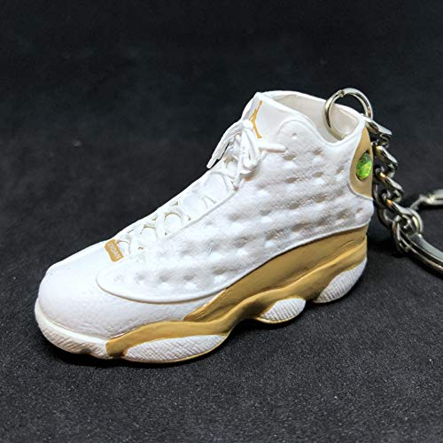 Air Jordan XIII 13 Retro Wheat White Brown OG Sneakers Shoes 3D Keychain 1:6 Figure (Air Jordan 13 Xiii Retro Wheats White Wheat)