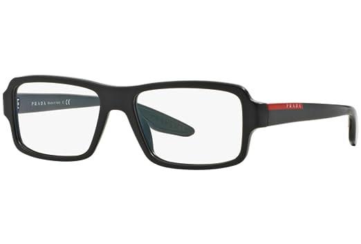 Amazon.com: Prada Sport Rx Eyeglasses Frames Vps 01G Ub4-1o1 53x16 ...