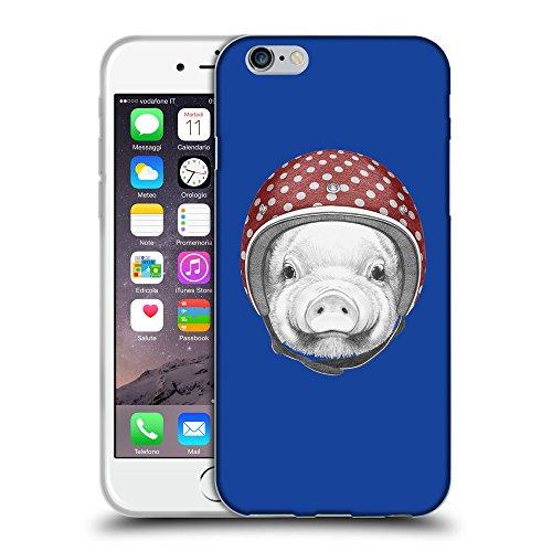 "GoGoMobile Coque de Protection TPU Silicone Case pour // Q05340613 Casque tirelire Bleu // Apple iPhone 6 PLUS 5.5"""