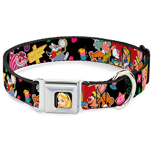 Buckle-Down Seatbelt Buckle Dog Collar - Alice's Encounters in Wonderland - 1