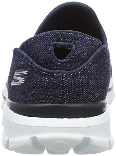 Skechers Go Walk 3, Baskets Basses Femme Bleu - Blue (Den)