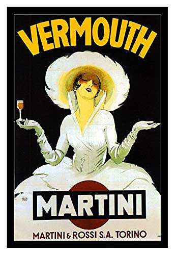 8 x 10 Photo Print Martini Vermouth Vintage Old Advertising Campaign - Martini Vermouth