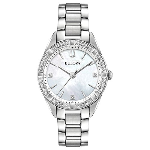 (Ladies' Bulova Diamond Collection Gold-Tone Stainless Steel Diamond Accent Watch)