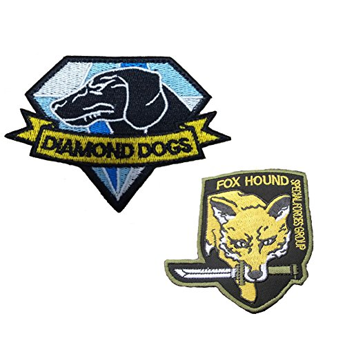 GrayCell Military Morale Diamond Dogs and Metal Gear Solid Fox Patch (D)