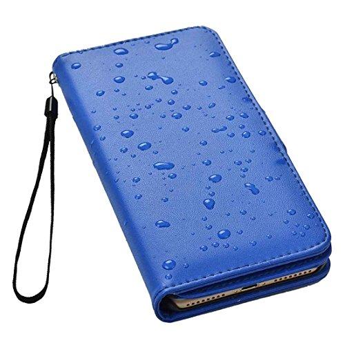 GHC Cases & Covers, Plain Weave Texture Horizontale Flip Leder Tasche mit Card Slots & Wallet & Lanyard, für iPhone 7 Plus ( Size : Ip7p7780l )