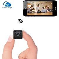 Mini Caméra WiFi - Caméra Espion cachée sans Fil Bysameyee avec détecteur de Vision Nocturne Stockage en Nuage, enregistreur vidéo IP HD 720P avec Affichage en Direct Mobile pour Android iPhone