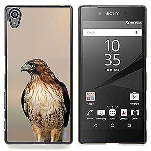 /Skull Market/ - Hawk Blurry Sunset Nature Summer Bird For Sony Xperia Z5 5.2 Inch Smartphone - Mano cubierta de la caja pintada de encargo de lujo -