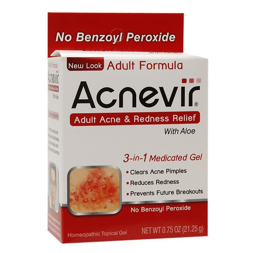 Acnevir Adult Acne & Redness Relief Gel,with Aloe 0.75 Oz / 21.25 G (Pack of 4)