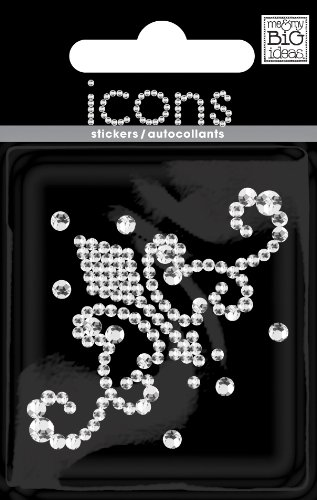 Me & My Big Ideas Rhinestone Word and Icon Stickers, Mini Scroll Ornament 2/Crystal