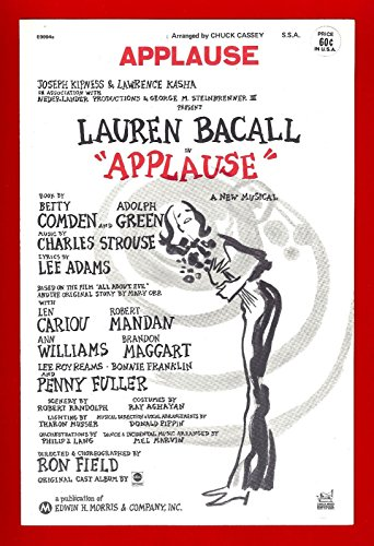 Applause Sheet Music - Lauren Bacall