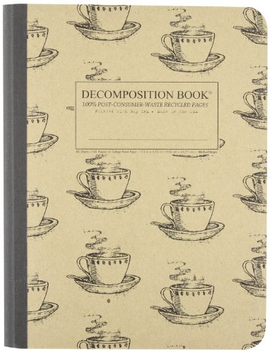 Coffee Cup Decomposition Book: College-ruled Composition Notebook With 100% Post-consumer-waste Recycled Pages
