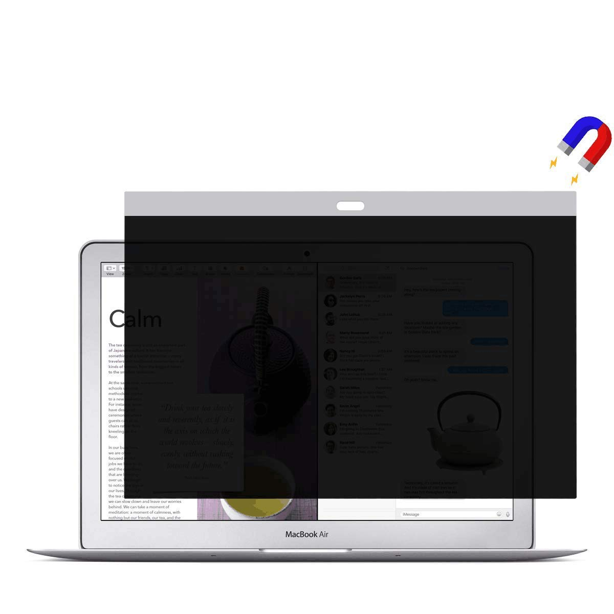 13 inch Privacy Screen,Magnetic Privacy Screen Protector Compatible MacBook air 13(Model A1369 and A1466) MacBook Privacy Filter/Monitor/Anti-Spy