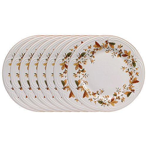 Pfaltzgraff Filigree Autumn Berry Dinner Plates, 10-1/4-Inch, Set of 8