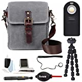 ONA - The Bond Street Camera Messenger Bag Waxed Canvas (for DSLR or Mirrorless) + Photography Accessories Kit