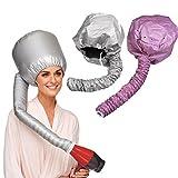 DATON Travel Home Portable Soft Hood Bonnet Attachment Haircare Salon Hair Dryer (Color Grey/Pink Random)