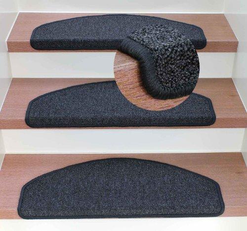 Kettelservice-Metzker® Stufenmatten - Rambo Halbrund - Anthrazit incl. Fleckentferner (15er Set Halbrund)