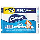 Charmin 99862 Ultra Soft Bathroom Tissue, 2-Ply, 4 x 3.92, 284 Sheets per Roll (Pack of 18 Rolls)