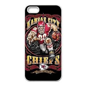 iPhone 5,5S Phone Case White Kansas City Chiefs JEL151987