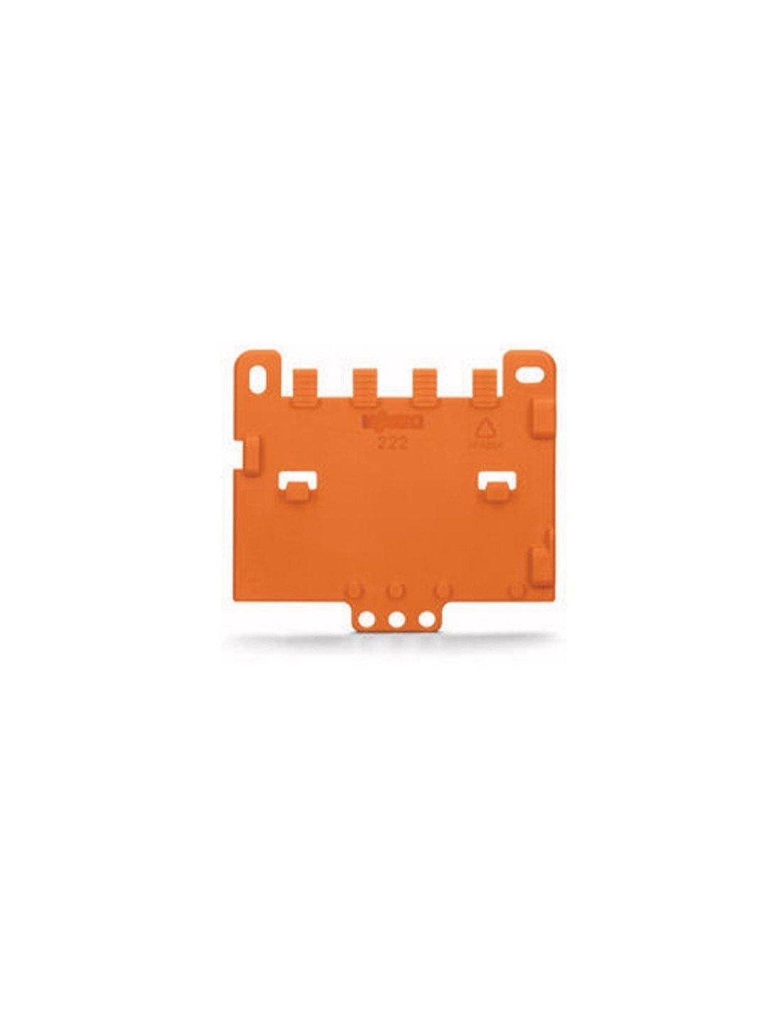 orange Wago Serie 222 Zugentlastungsplatte