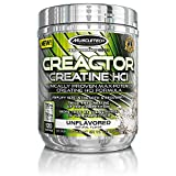 MuscleTech Creactor, Max Potency Creatine Powder, Micronized Creatine and Creatine HCl, Unflavored, 120 Servings (235g)