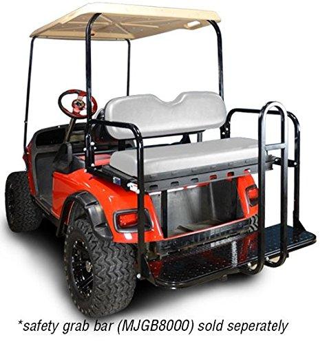 Madjax 01-008 Genesis 150 Rear Flip Seat kit for 1994-Up EZGO TXT Golf Carts White Cushions