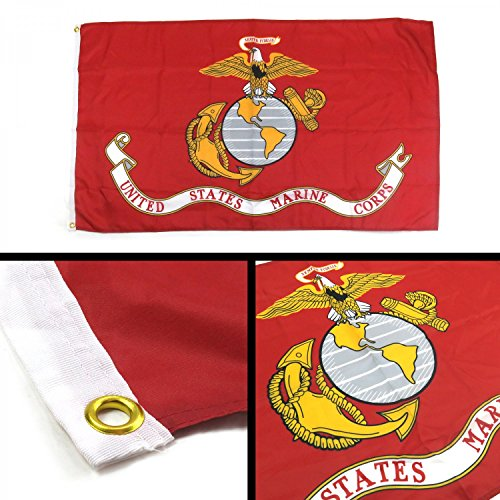 Marine United Seal Corps States (Banner Direct LLC 268803 United States Marine Corps Flag)