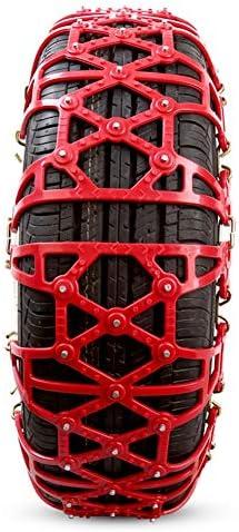 タイヤチェーン ラバーアンチスキッドで車のスノーチェーン、緊急時のトラクション (Color : Red, Size : 245/65 R17)