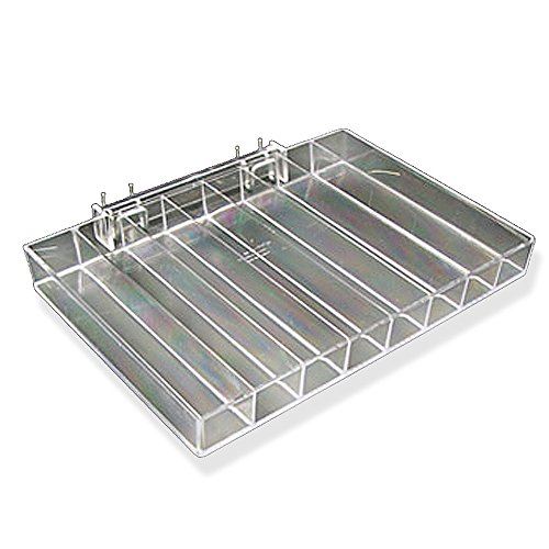 "Azar Displays 225568 12.25"" W x 8"" D x 1.25"" H 8-Compartment Tray (2 Pack)"