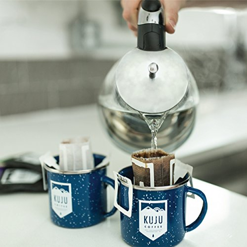 Kuju Coffee Pocket PourOver - Single Serve, Portable Pour Over Coffee - No Equipment Needed - Made with Ethically-Sourced Specialty Coffee - 10-pack   Basecamp Blend, Medium Roast by KUJU COFFEE (Image #4)