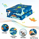 Sivio Kids Weighted Blanket, 5 lbs, 36 x 48 inches, 100% Natural Cotton Heavy Blanket for Kids and Toddler, Blue Dinosaur
