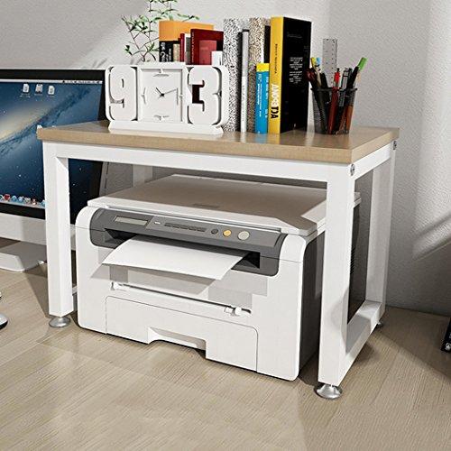 color de nuez blanca y clara Soporte de impresora para oficina Estante de condimento de cocina de 2 niveles Estante de desperdicio de parrilla de horno de microondas Tamaño : 54cm